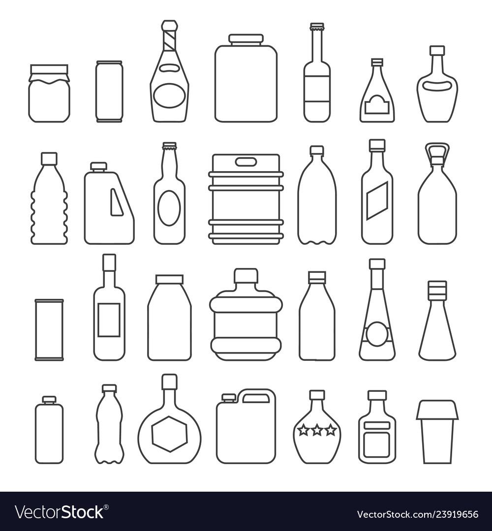 Beverage packaging icons