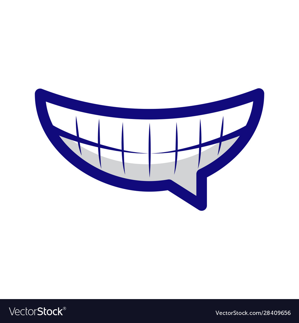 Laughing emoticon chat emoji with wide smile