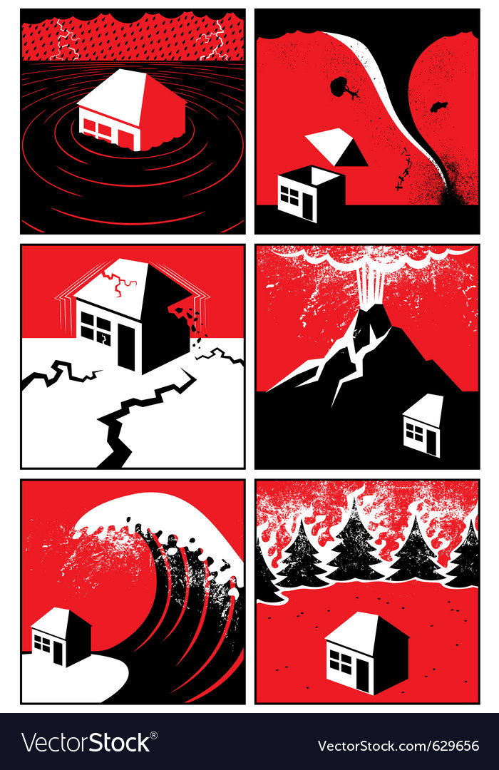 Natural disasters vector image