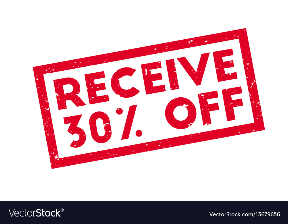 920f5be75 Receive 30 off rubber stamp Royalty Free Vector Image