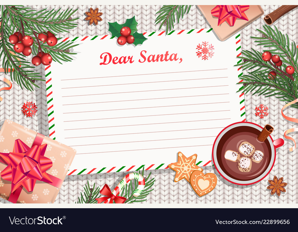 Template christmas letter to santa claus