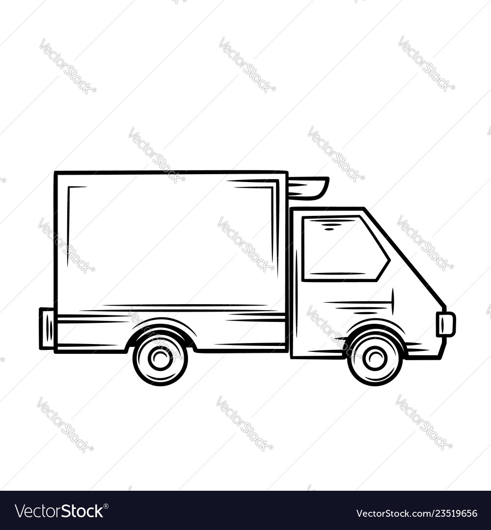 Truck icon outline