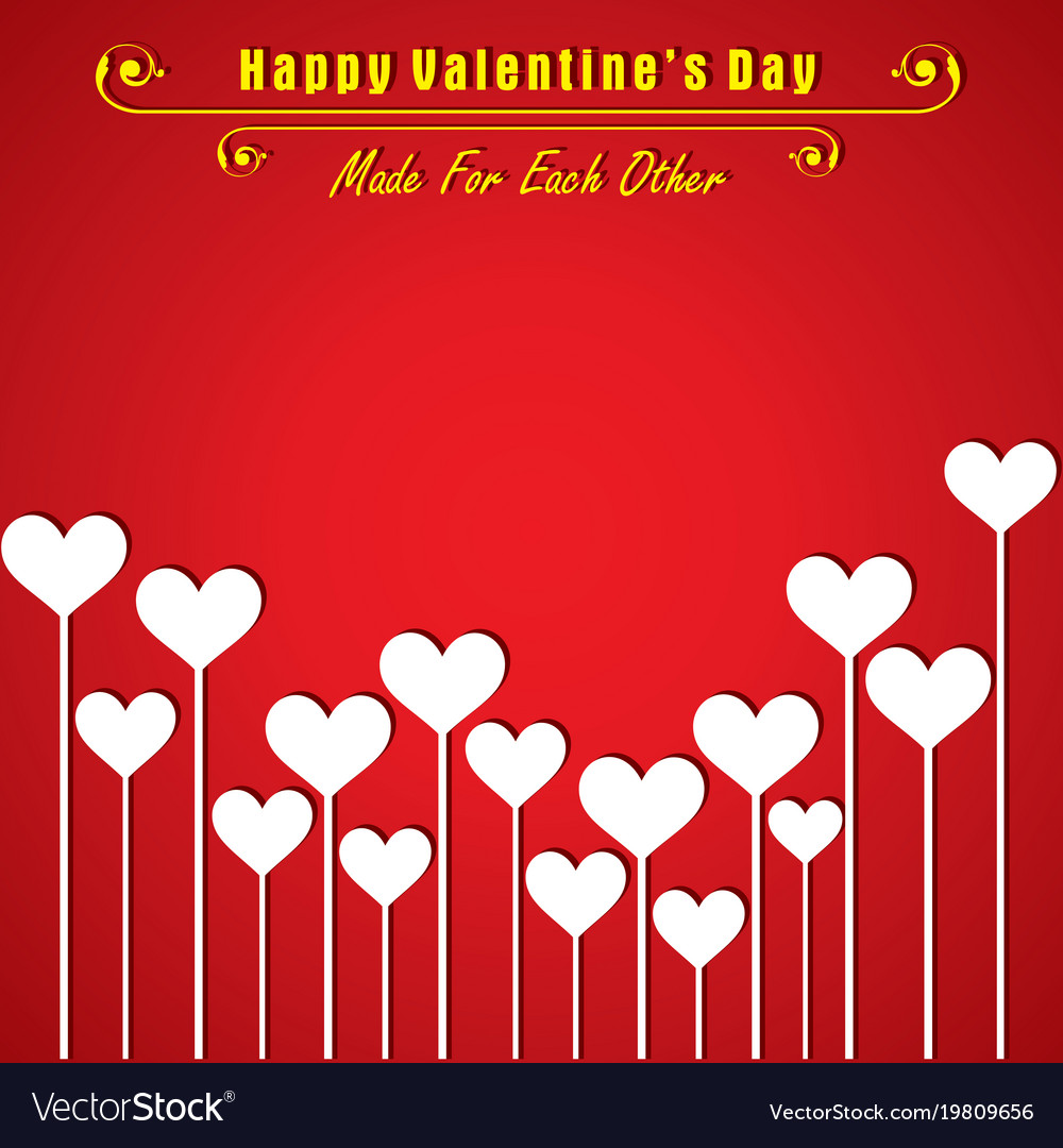 Valentine card with cute heart