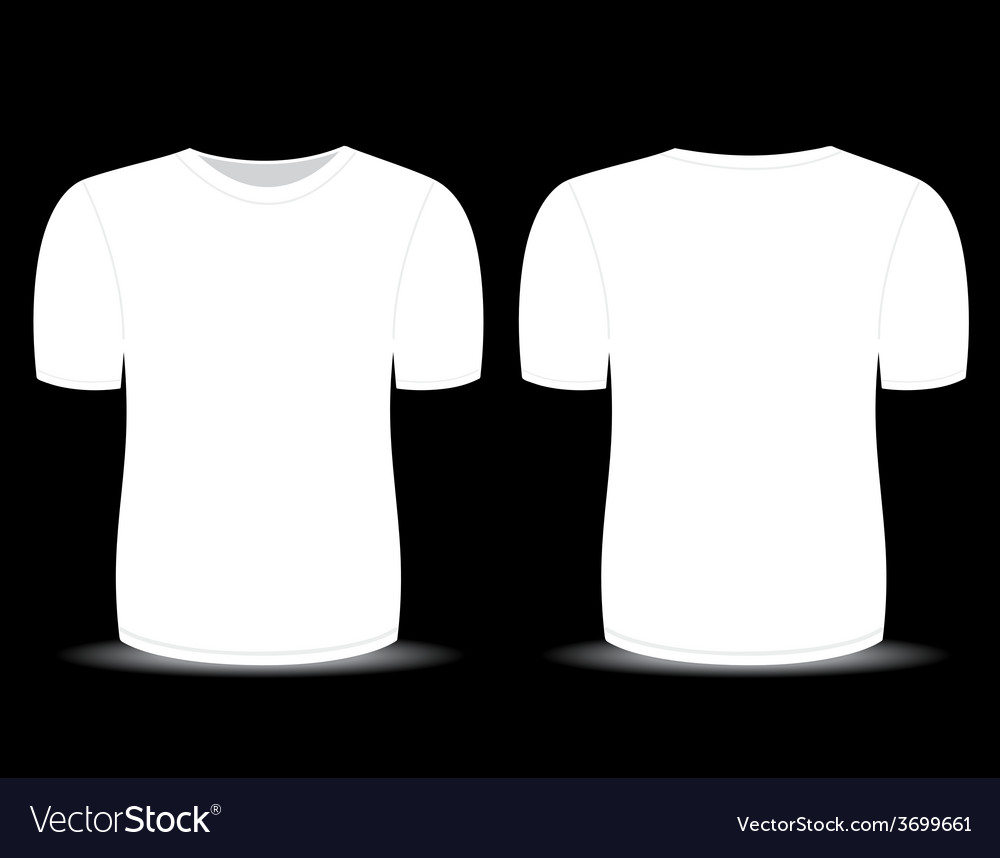 blank t shirt white template royalty free vector image