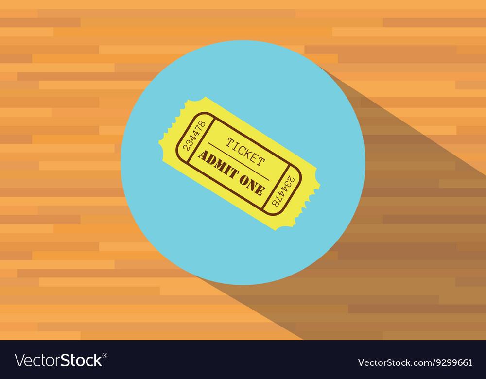 Flat ticket paper offlin vector image