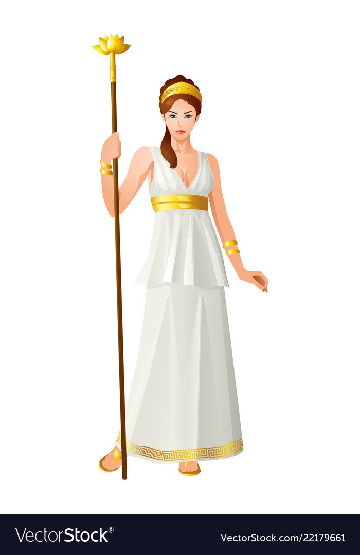 Greek Gods And Goddess Hera Royalty Free Vector Image