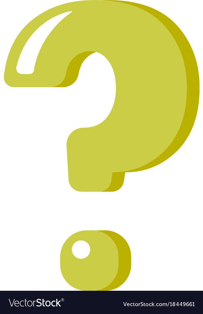 Green Question Mark Cartoon Royalty Free Vector Image