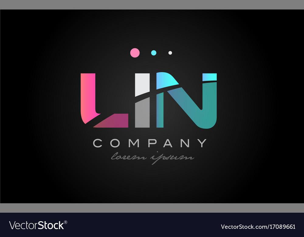 Lin l i n three letter logo icon design