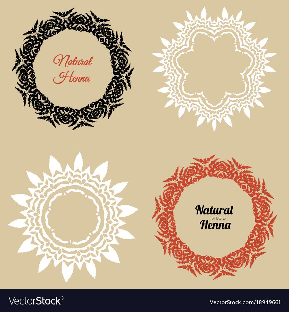 Logo For Henna Studio Royalty Free Vector Image