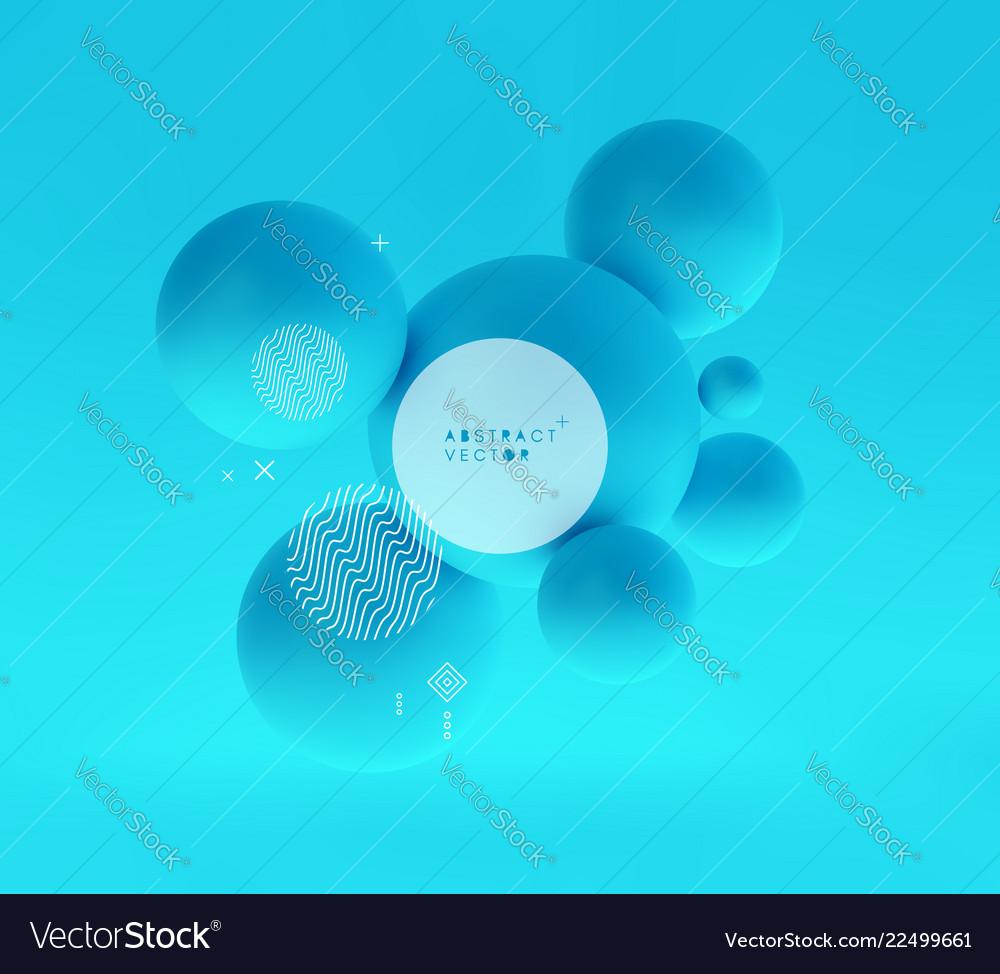 Molecule 3d concept template