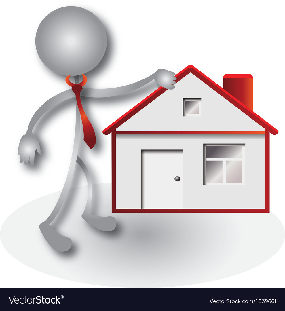Realtor and red house