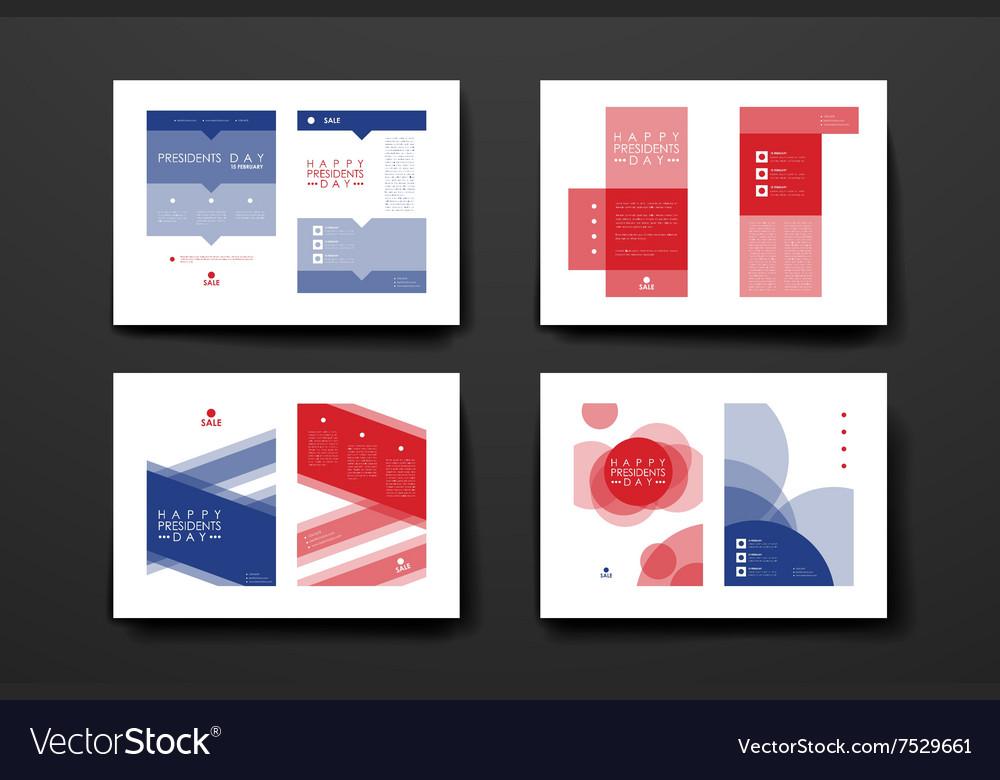 Set of brochure poster design templates in
