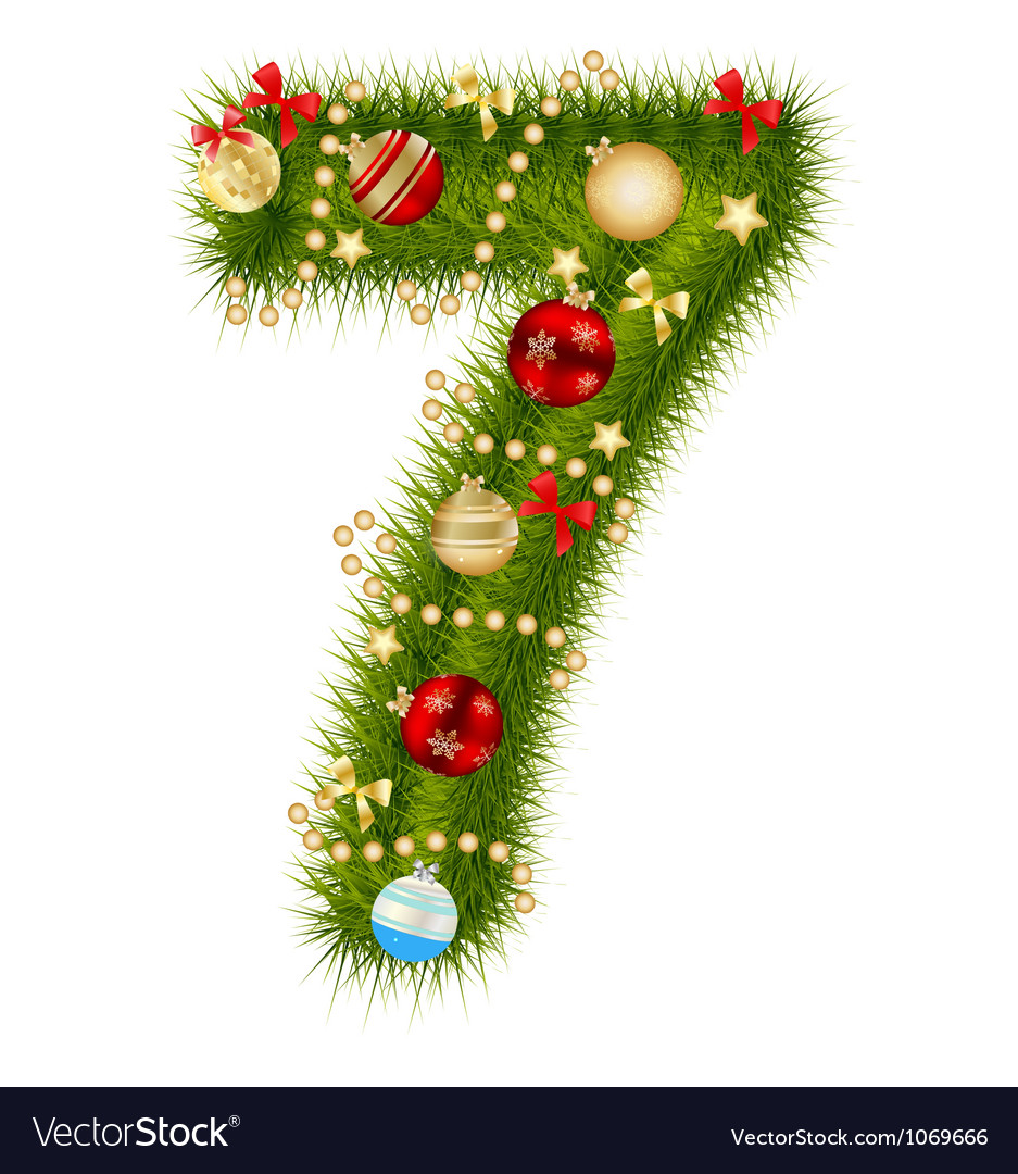 Christmas Alphabet.Christmas Alphabet Number Vector Image On Vectorstock