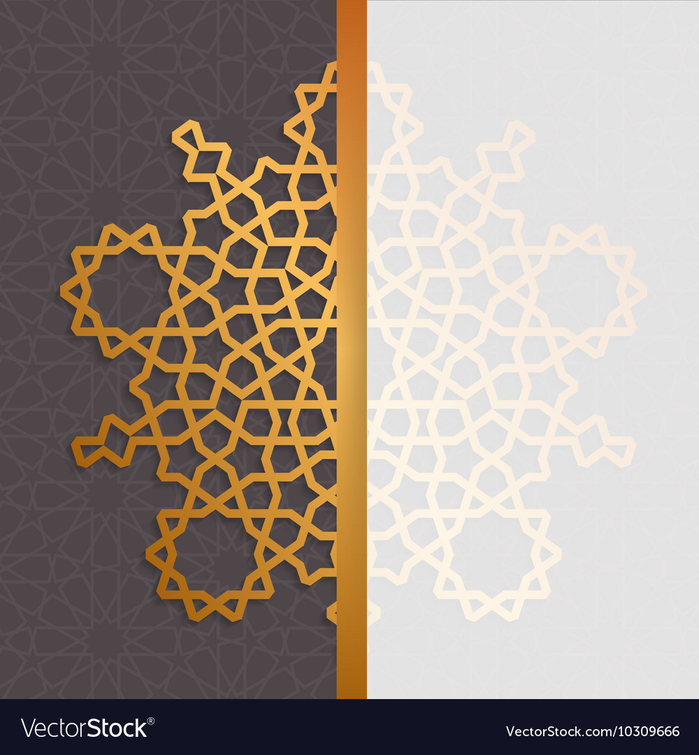 Geometric islamic pattern Muslim background in