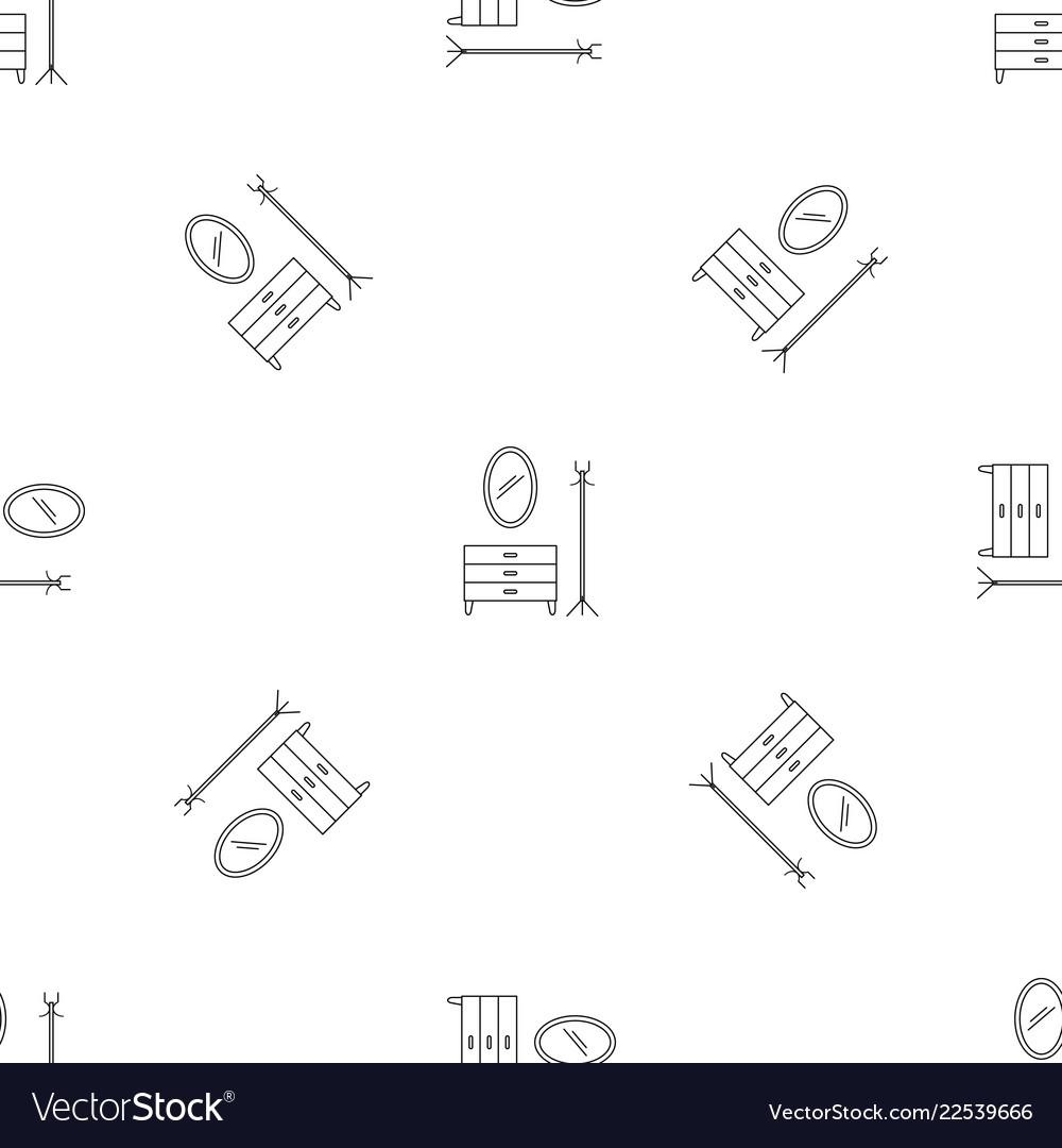 Home furniture pattern seamless