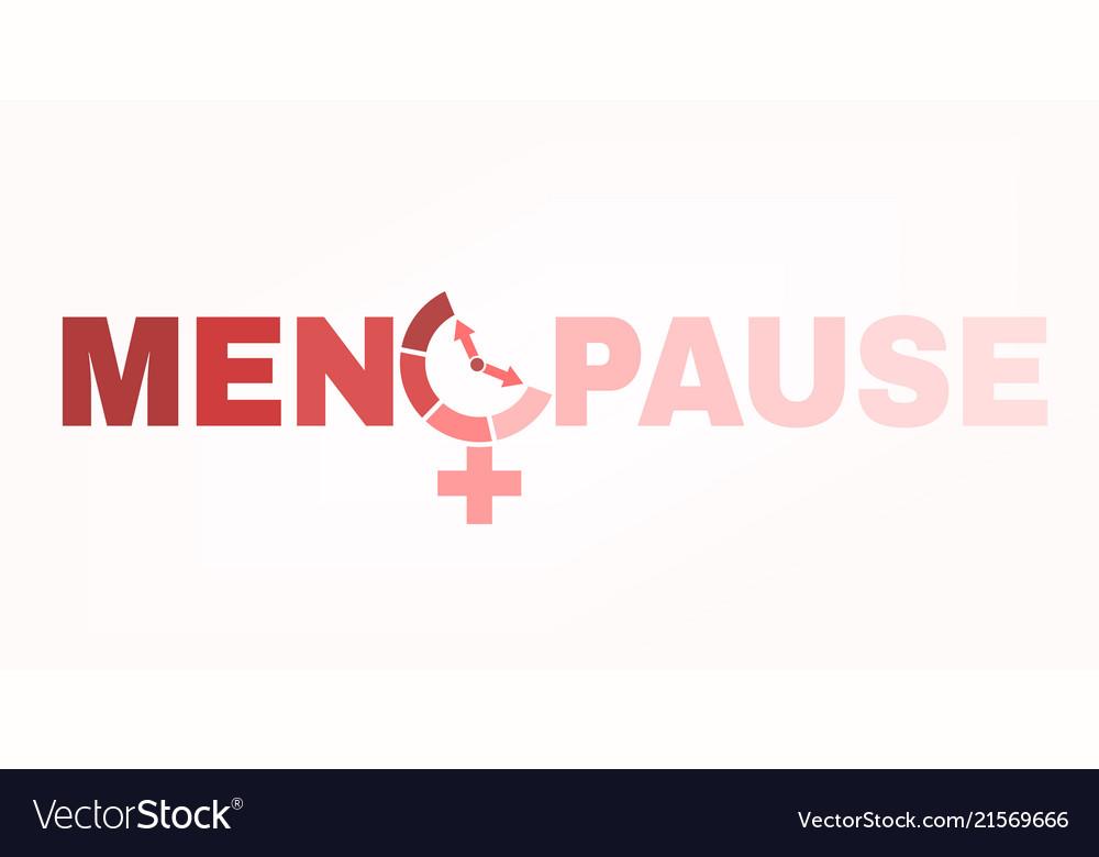 Menopause Logo Image Royalty Free Vector Image