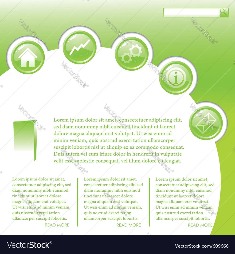 Website business template in green