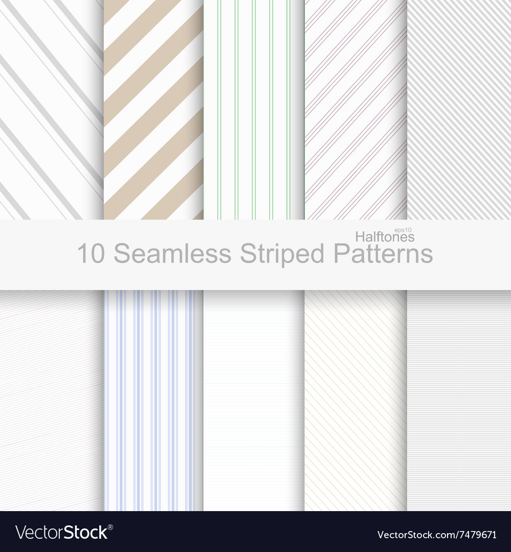 10 Seamless striped patterns vector image