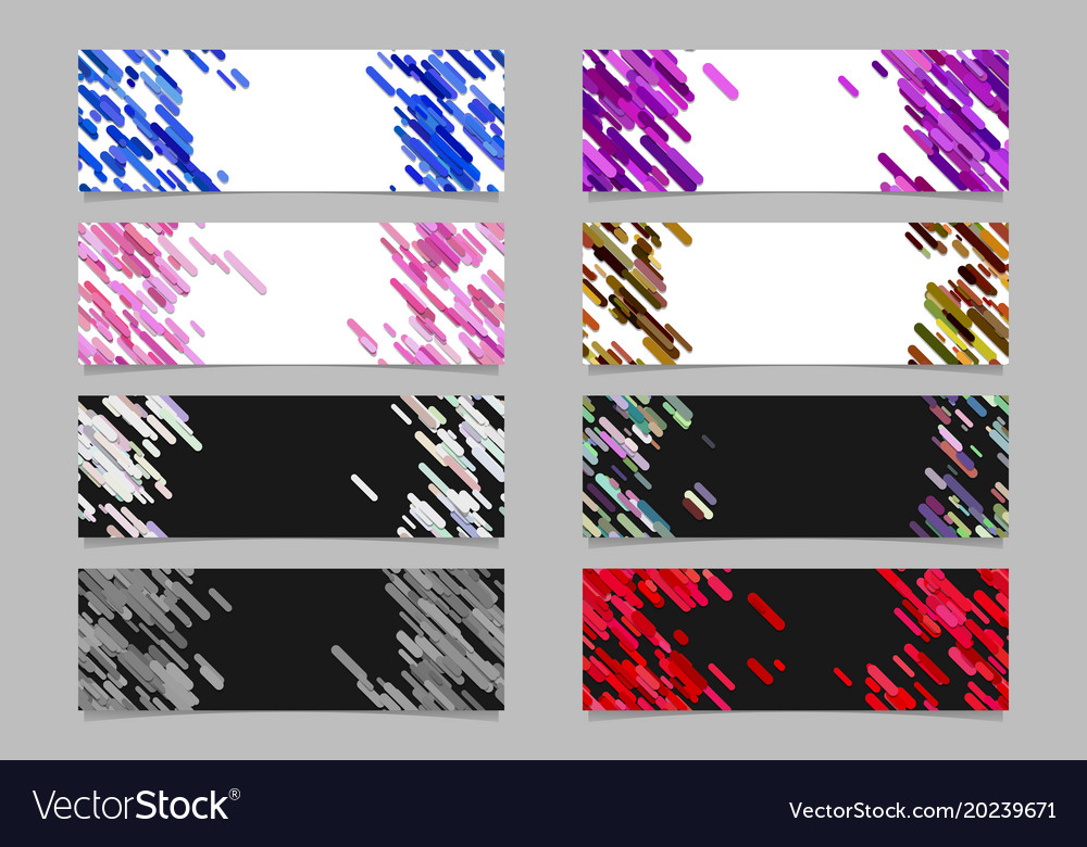 Abstract diagonal rounded stripe pattern banner