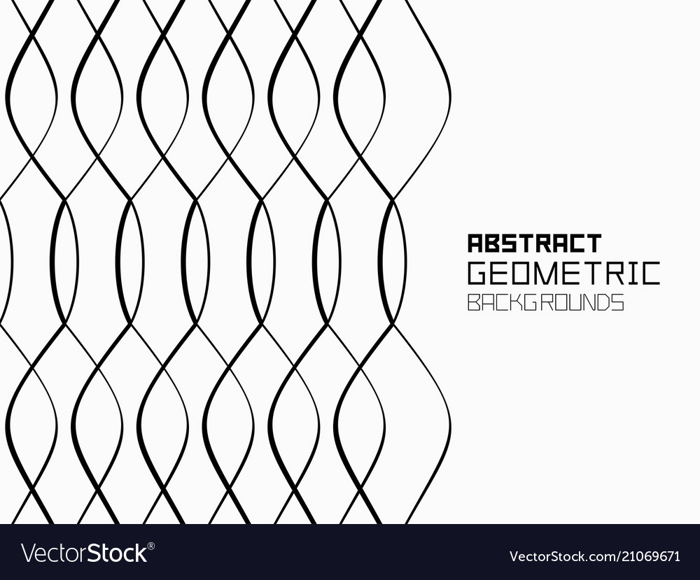 Abstract geometric background with waves monochro