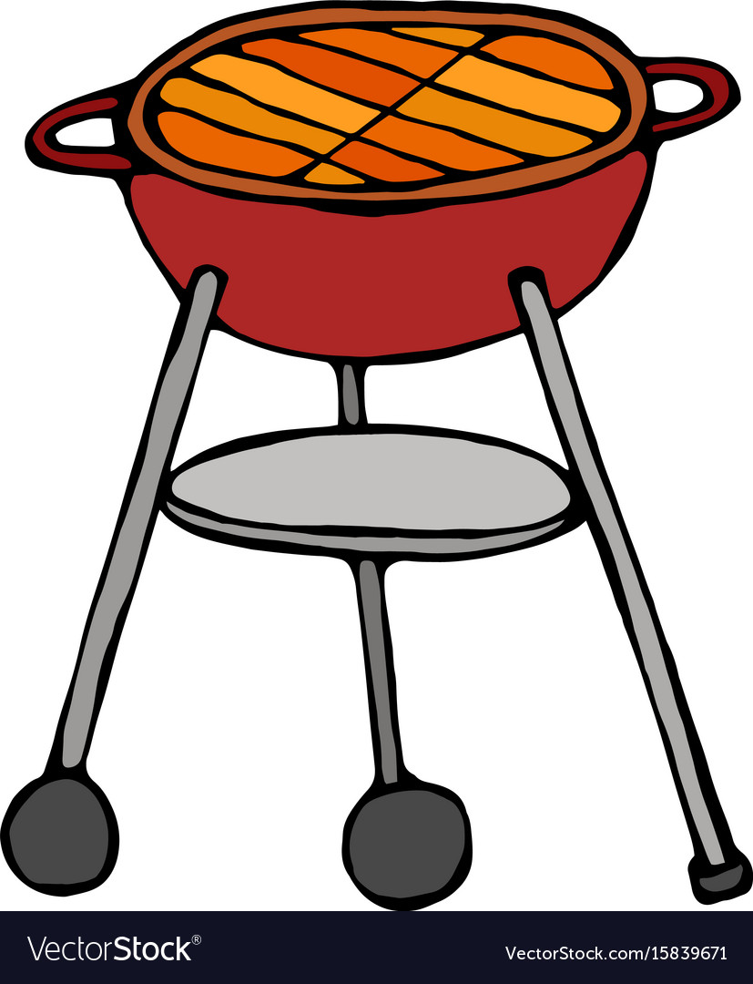 Bbq grill isolated on a white background