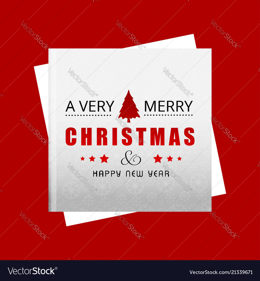 Christmas card with red background