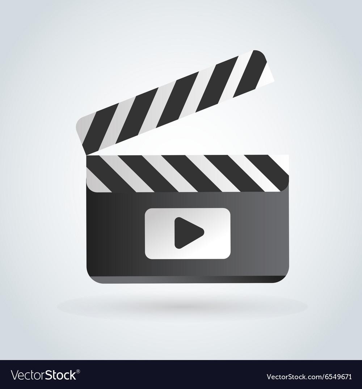 Cinema film clapper board