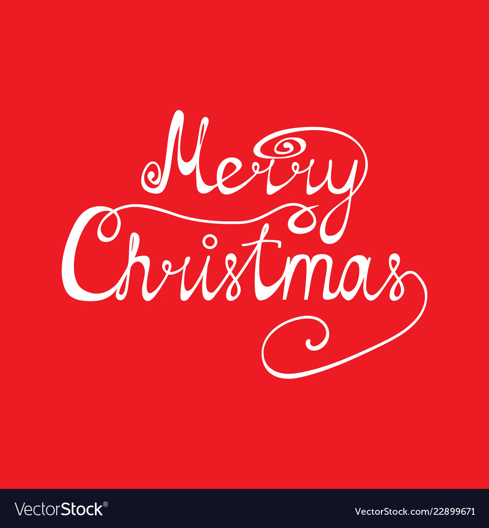 Congratulation merry christmas on a red