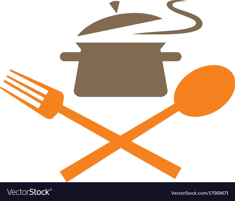 Cook food kitchen logo
