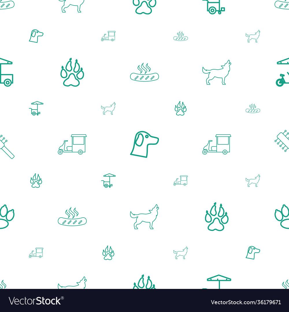 Dog icons pattern seamless white background