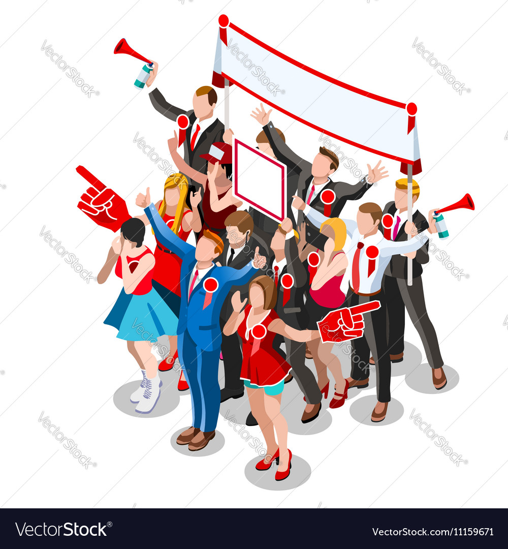 Election Infographic Crowd Conference Isometric vector image