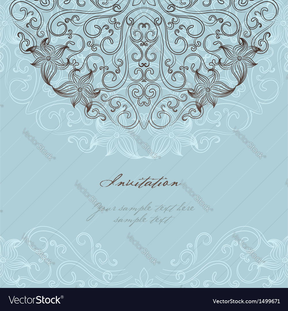 Elegant invitation card royalty free vector image elegant invitation card vector image stopboris Image collections