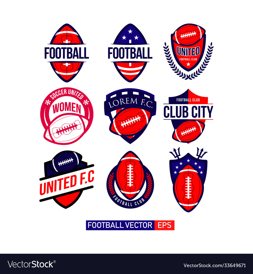 Football club set logo template design