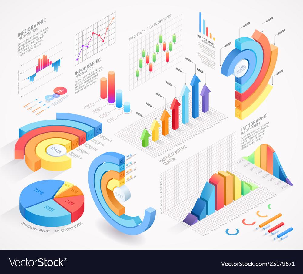 Infographics isometric elements icon