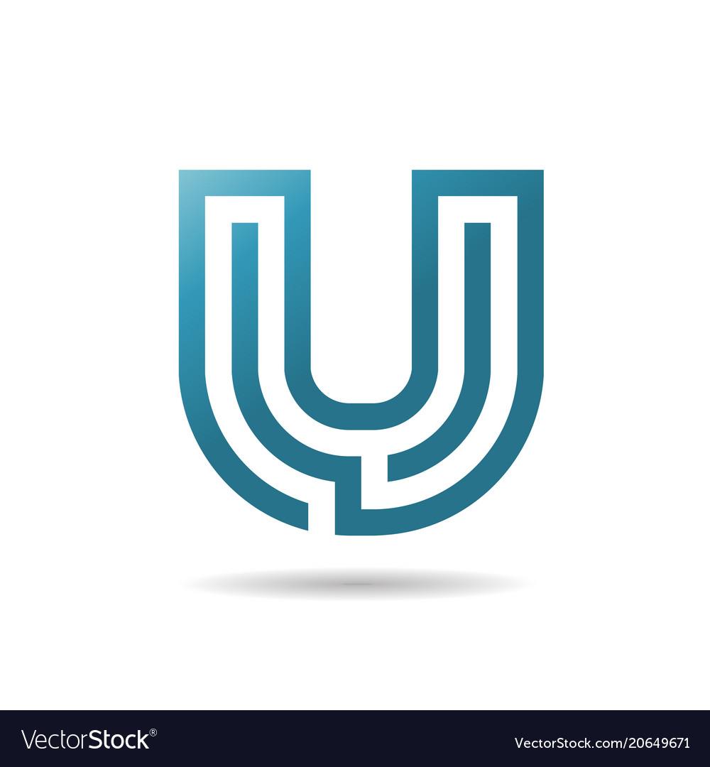 Letter u logo design
