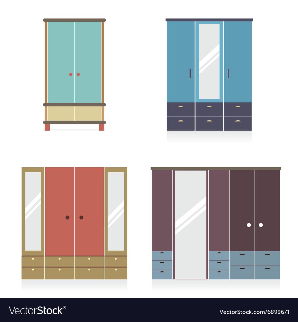 Modern Wardrobe Set vector image