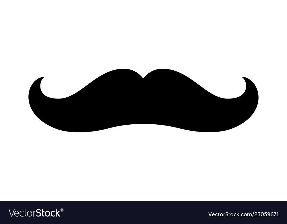 Mustache icon moustache vintage shape symbol