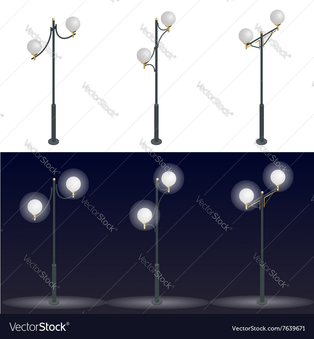Street lantern Streetlight 3D flat vector image