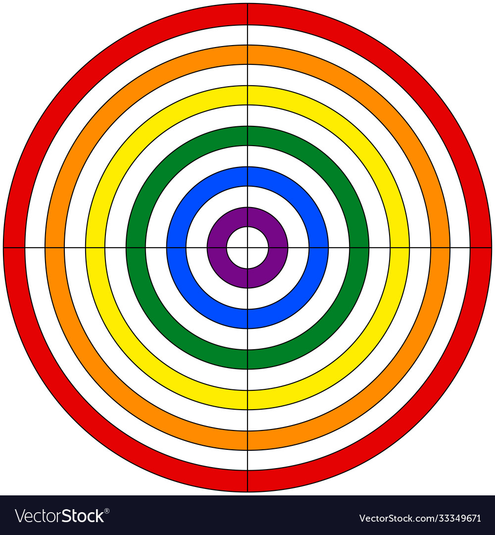 Target for shooting colors lgbt flag