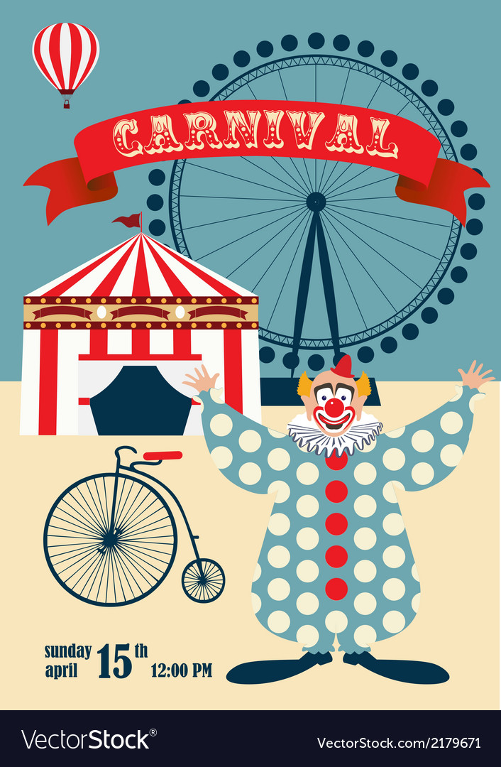 Vintage carnival or circus poste