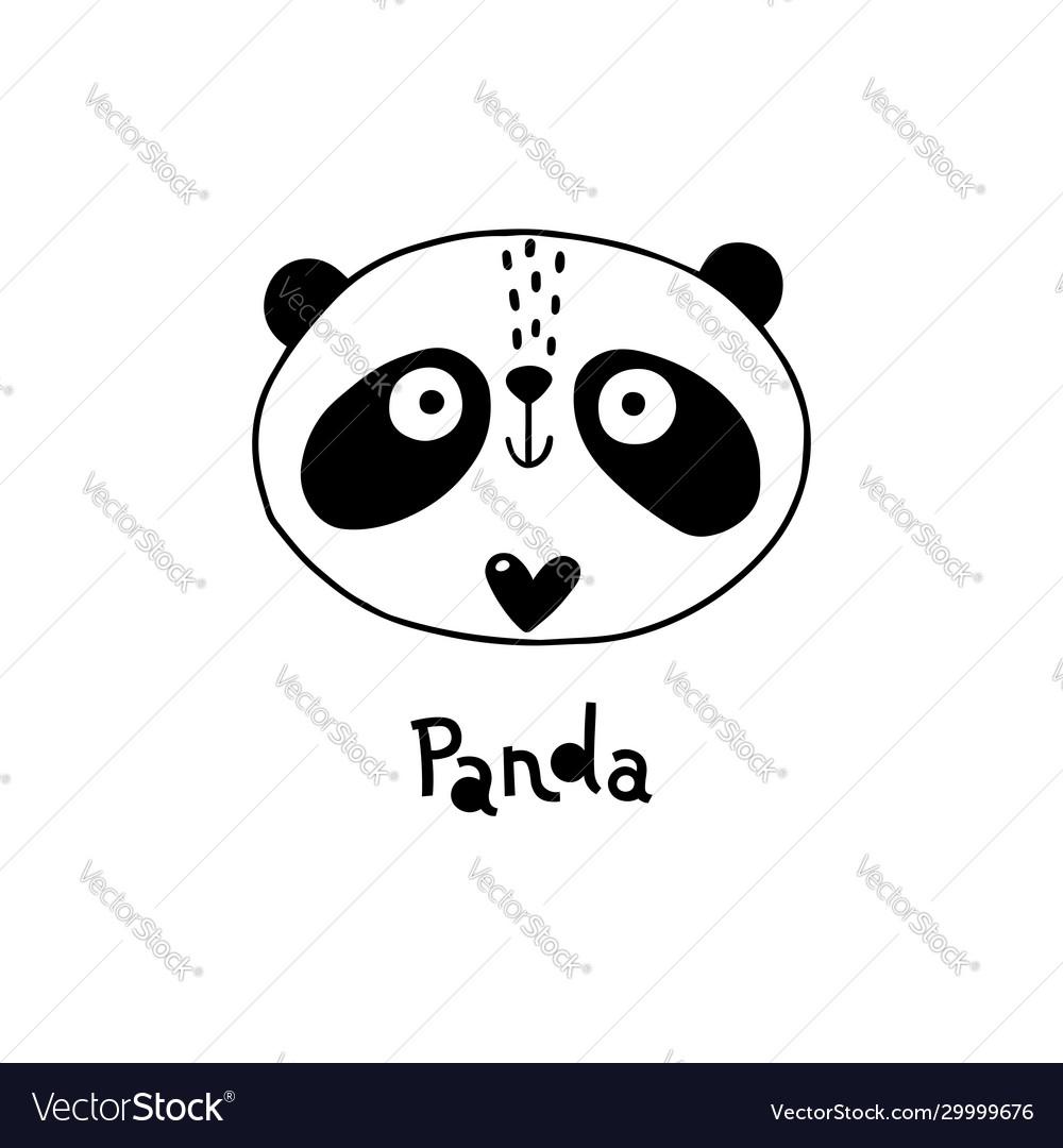 Avatar cute face panda portrait