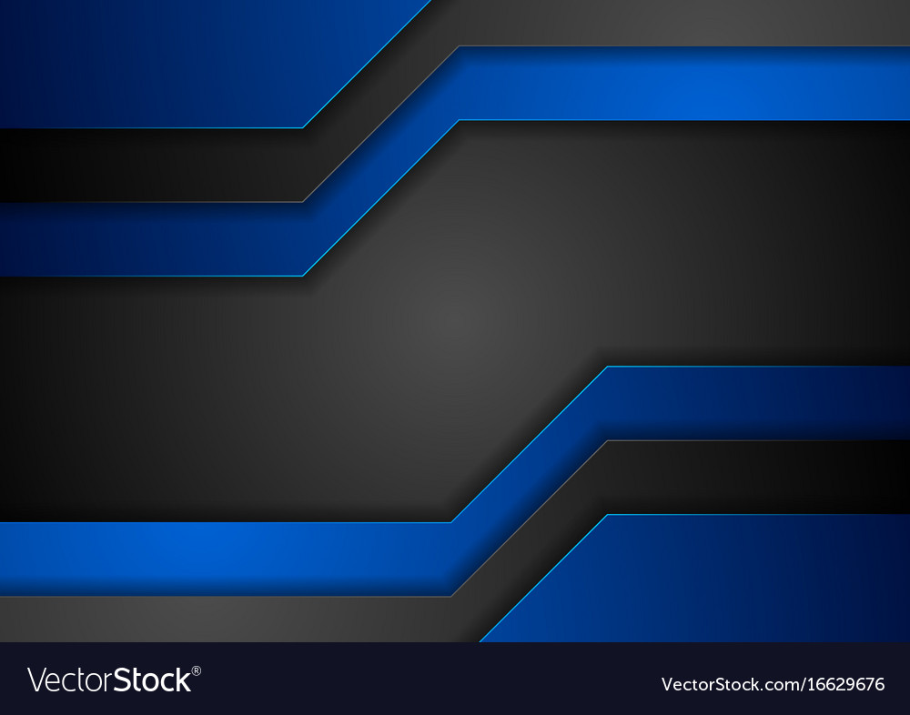 dark blue and black abstract corporate background vector image