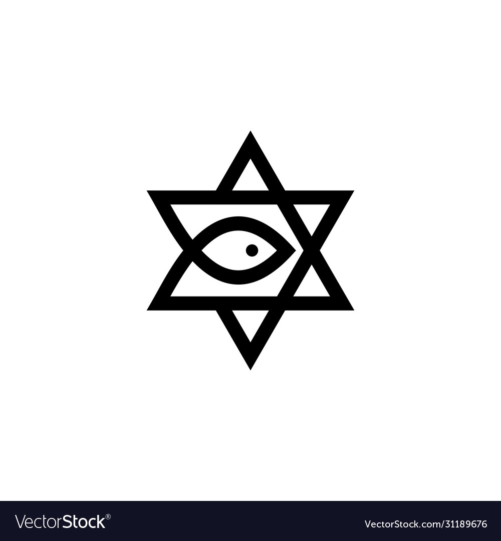 Messianic judaism david star messiah fish logo