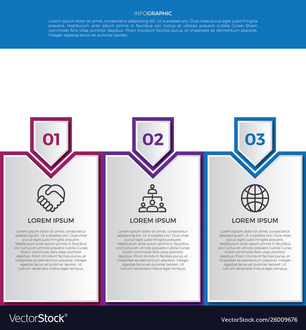 Modern line business infographics