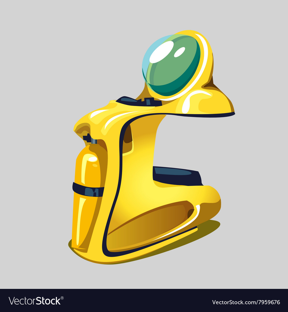 Modern yellow jet ski isolated vector image