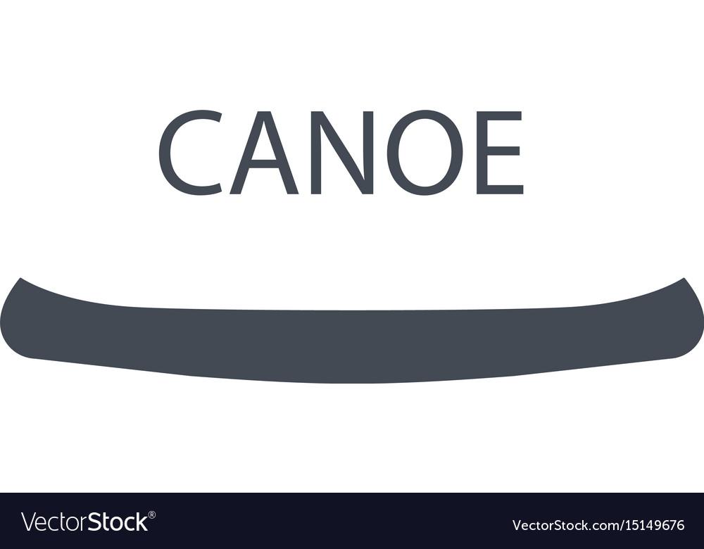 Monochrome canoe isolated on
