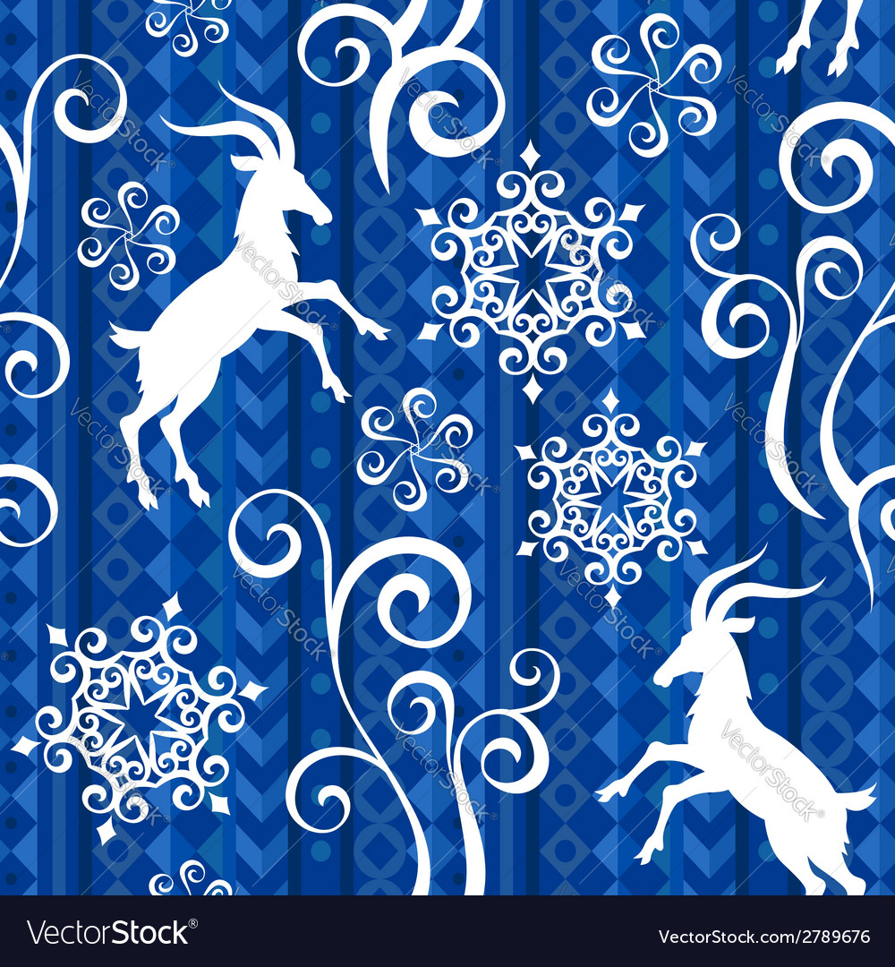 Pattern goat year blue