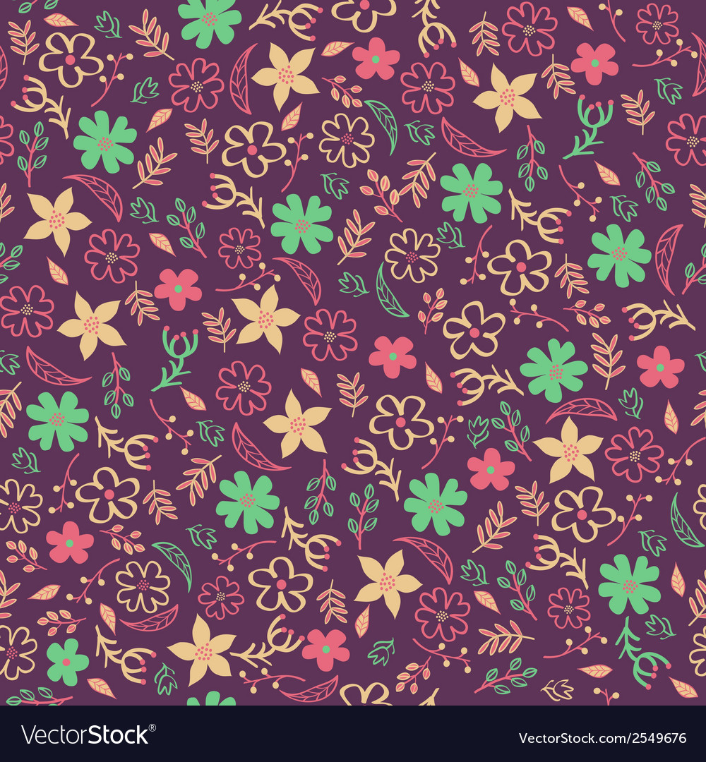 Seamless floral pattern Can be used for invitation vector image