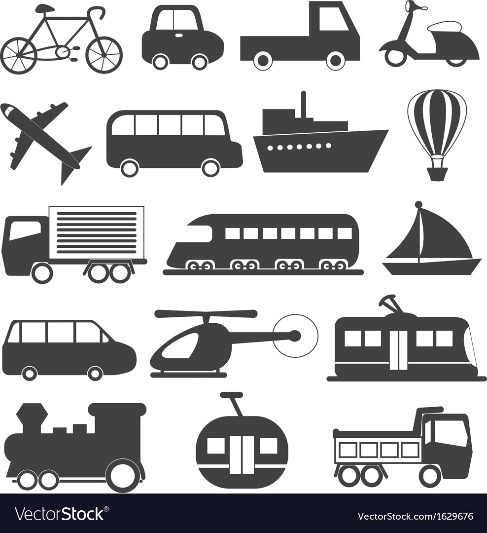 Transportation Icons Collection vector image