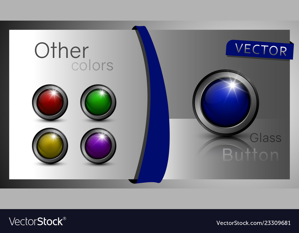 A set of buttons